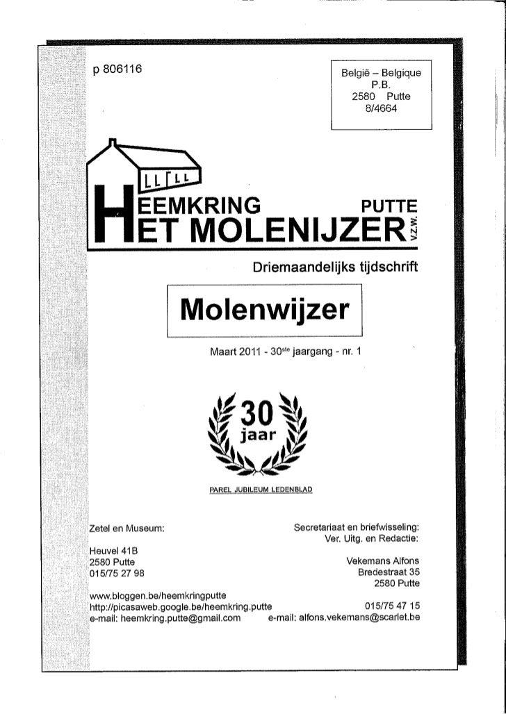 H De Lannoy Art J H de Perceval In Molenwijzer 2011 Overdruk
