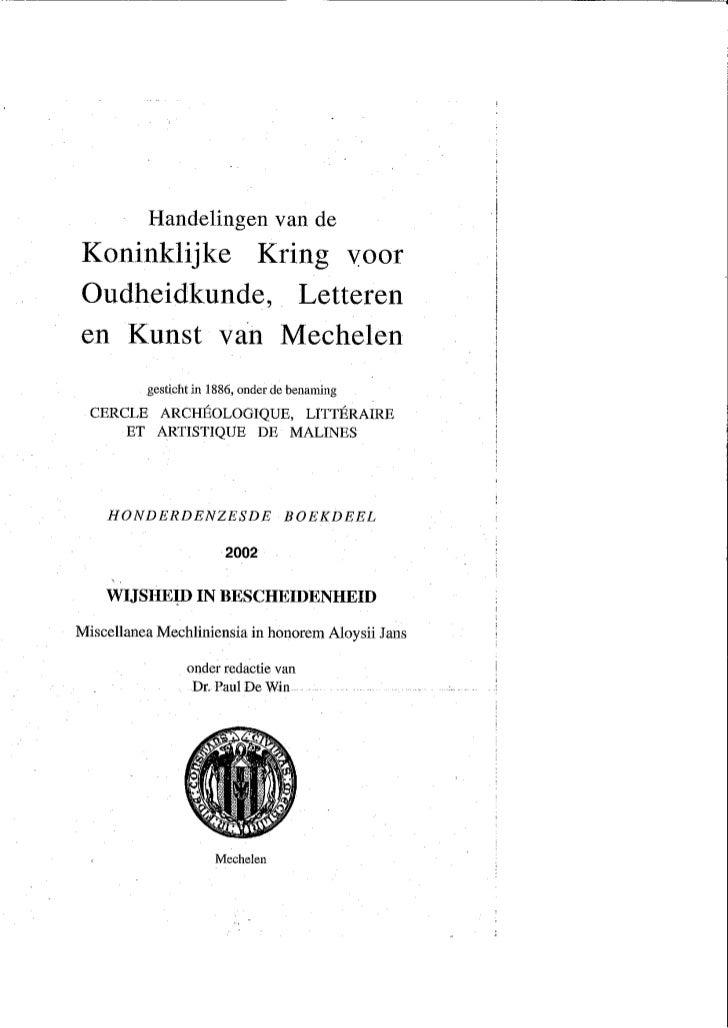 H De Lannoy Art Priester  Arbeider Tegen Wil En Dank In Handelingen Kkolkm 2002 Overdruk