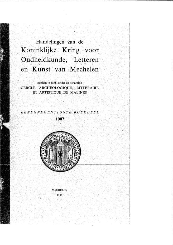 H De Lannoy Art Stad Op Krukken In Handelingen Kkolkm 1987 Overdruk