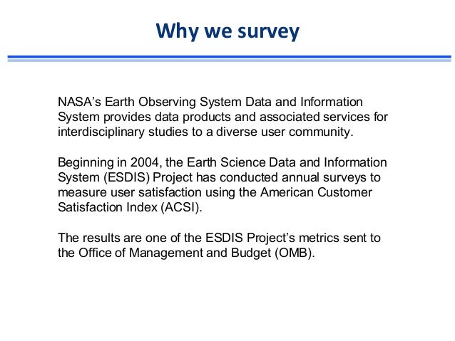 EOSDIS Survey Overview Slide 2
