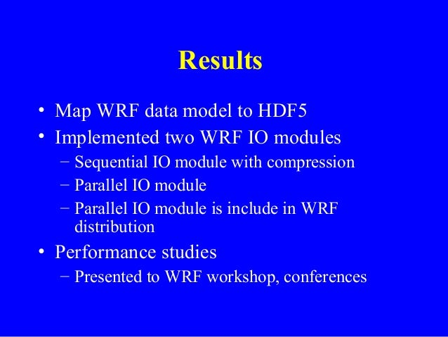 An HDF5-WRF module