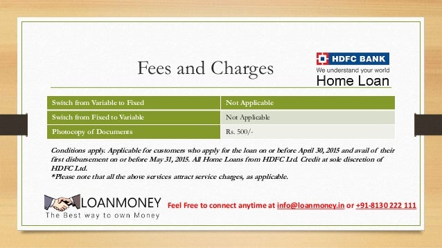 hdfc bank loan payment schedule