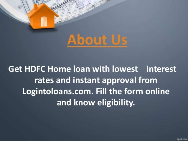 Hdfc bank home loan, apply for hdfc bank home loan in india logint…