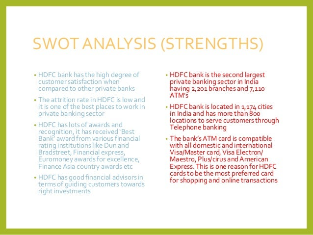 HDFC Bank Limited (HDFCBANK) : Company Profile and SWOT Analysis