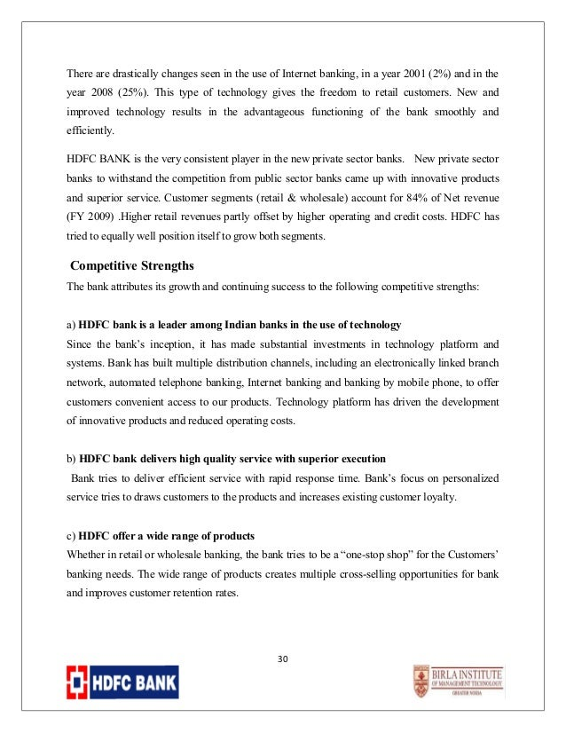 hdfc competitor analysis Essay about hdfc competitor analysis  competitor analysis one of the key pieces of the marketing plan for an organization is the examination of .