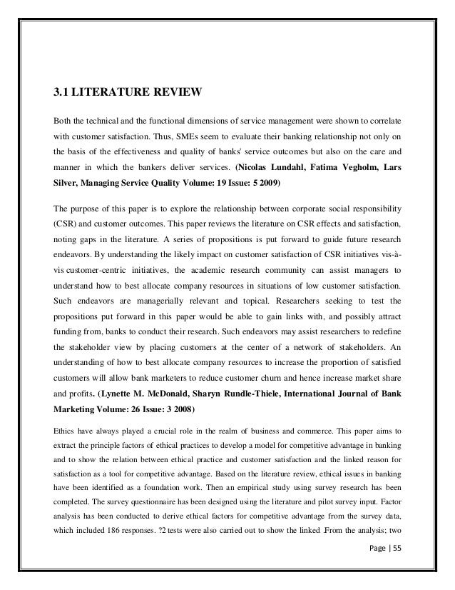 Literature Review On Customer Satisfaction In Retail