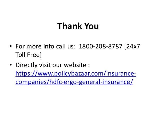 Hdfc ergo general insurance review