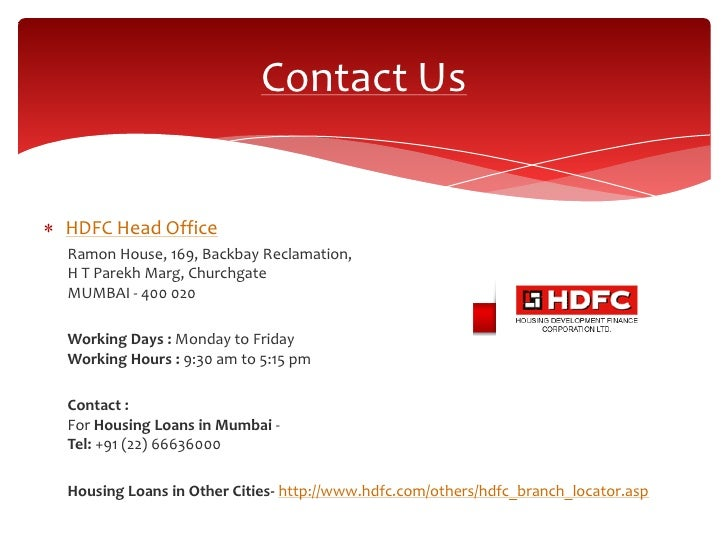 Hdfc Home Loan Bank Working Days