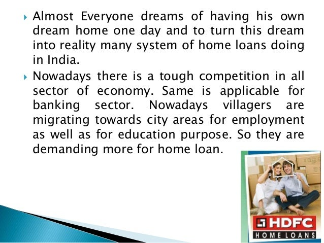 Conditions For Home Loan From Hdfc