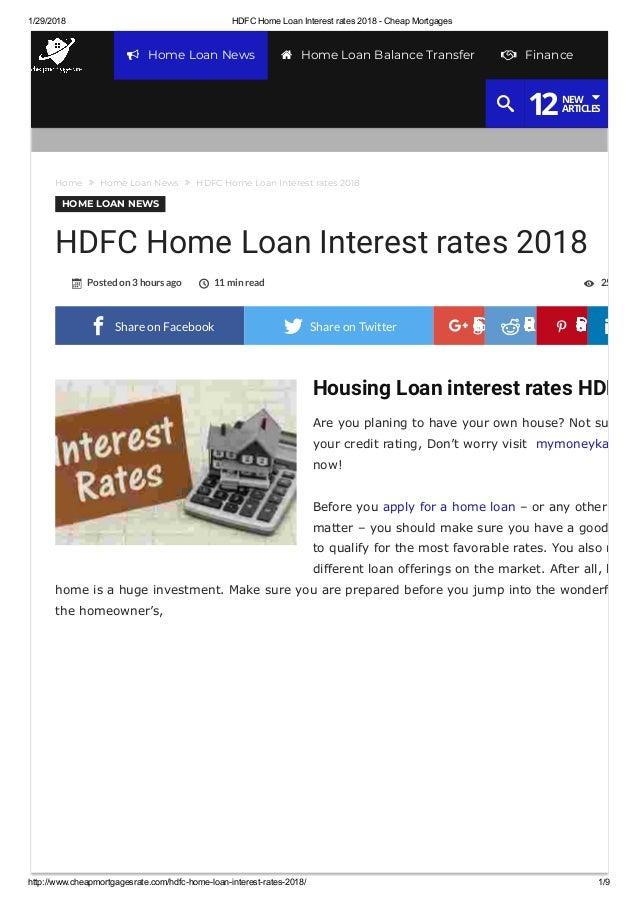 hdfc housing loan account login