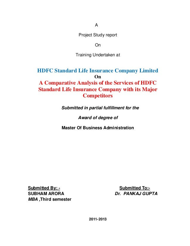 A                       Project Study report                               On                      Training Undertaken at ...