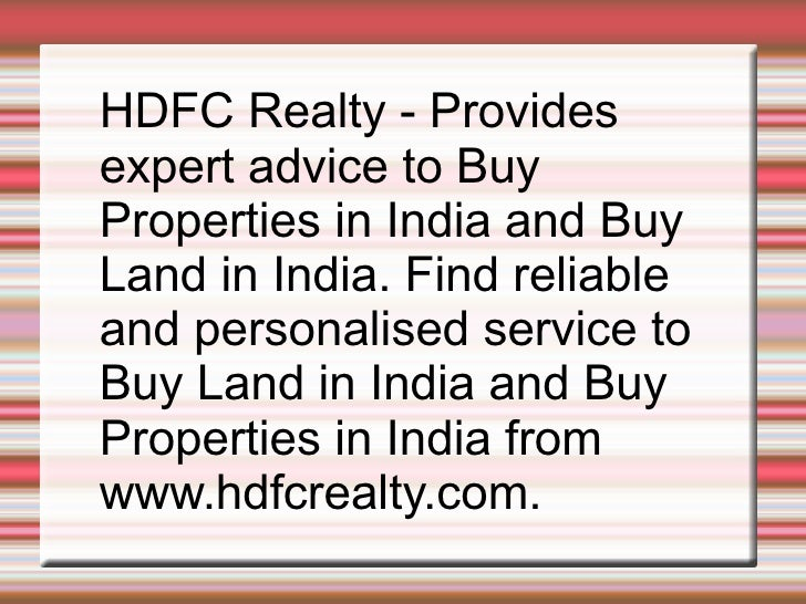 Hdfc Loan To Buy Commercial Property