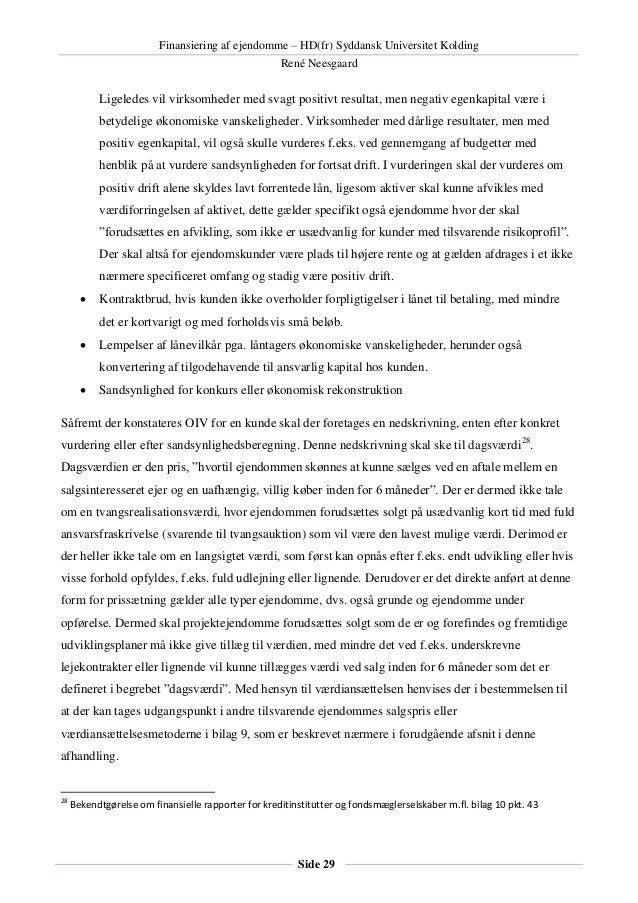 HD(FR) finansiering af ejendomme