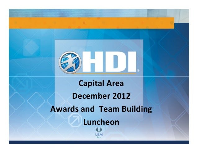 Capital Area    December 2012Awards and Team Building        Luncheon