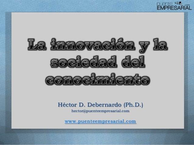 Héctor D. Debernardo (Ph.D.) hector@puenteempresarial.com www.puenteempresarial.com