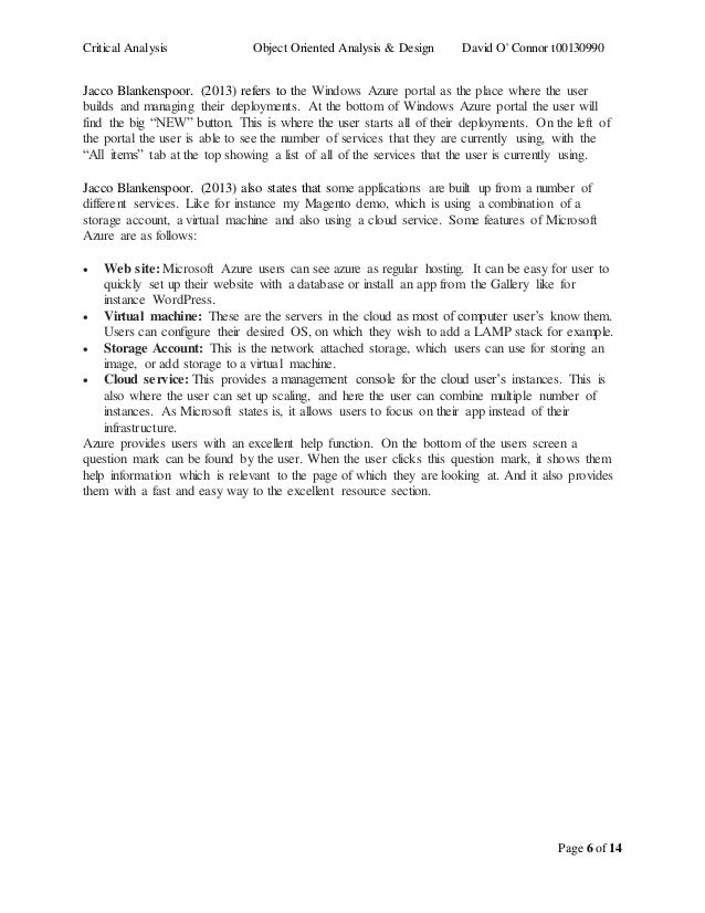 Critical Analysis Essays (Examples)