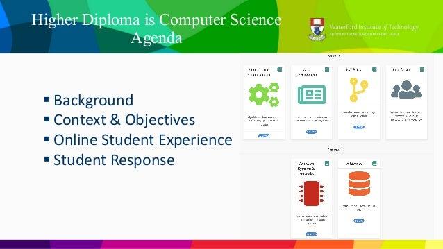 H dip student survey results 2018 Slide 2