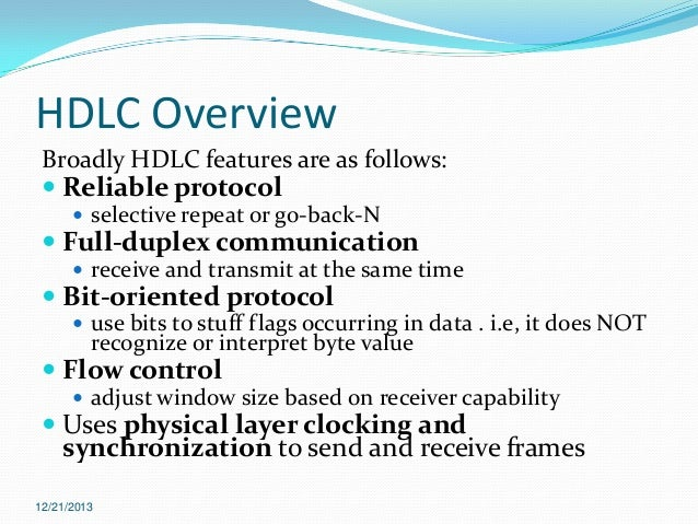 hdlc high level data link control