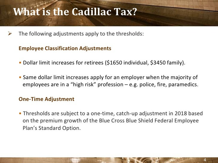 How to Avoid a Head-on Collision with The Cadillac Tax