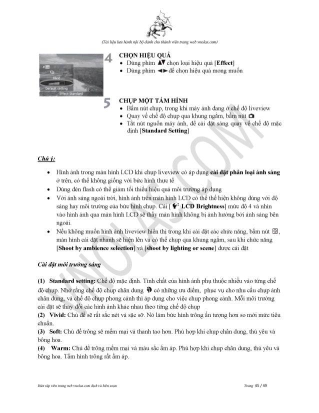Hướng Dẫn Sử DUng Canon 60D Tiếng Việt