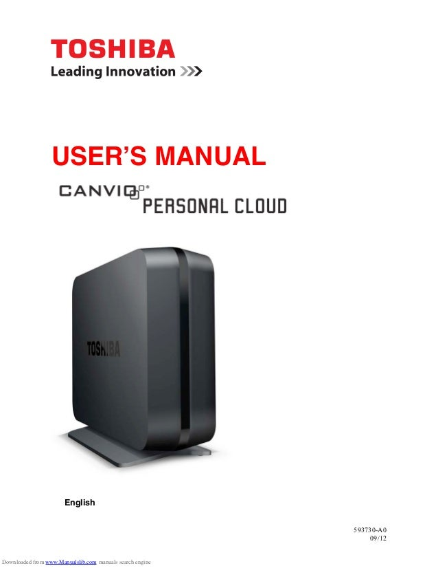toshiba canvio personal cloud instruction manual rh slideshare net
