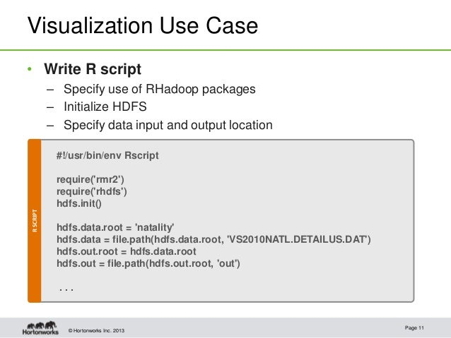Process and Visualize Your Data with Revolution R, Hadoop