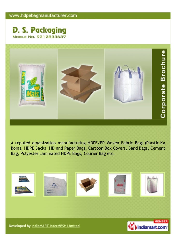 27bd420d57f A reputed organization manufacturing HDPE PP Woven Fabric Bags (Plastic  KaBora), ...