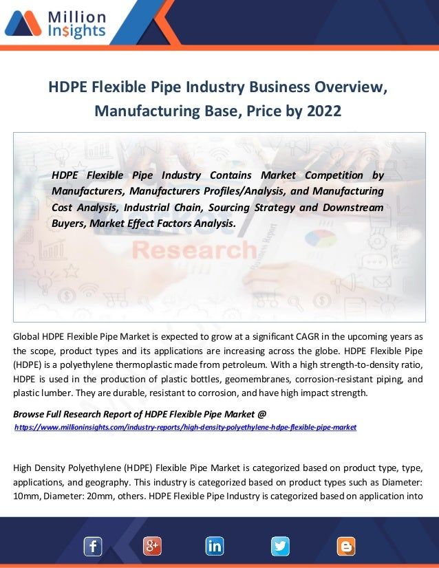 Hdpe flexible pipe industry business overview, manufacturing