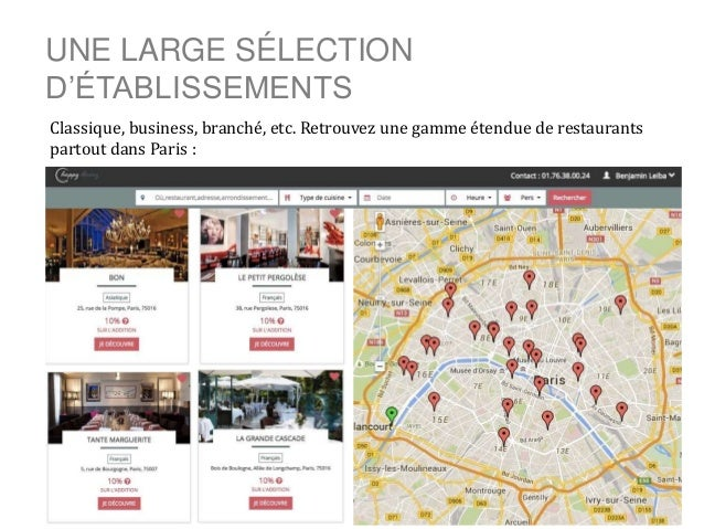 UNE LARGE SÉLECTION D'ÉTABLISSEMENTS Classique, business, branché, etc. Retrouvez une gamme étendue de restaurants partout...