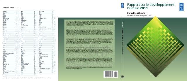 REMARQUE : Les flèches indiquent la variation du classement du pays pour la période 2010–2011, selon une méthodologie et de...