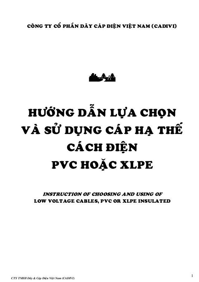 CTY TNHH Daây & Caùp Ñieän Vieät Nam (CADIVI) 1 COÂNG TY COÅ PHAÀN DAÂY CAÙP ÑIEÄN VIEÄT NAM (CADIVI)  HÖÔÙNG DAÃN LÖÏA...