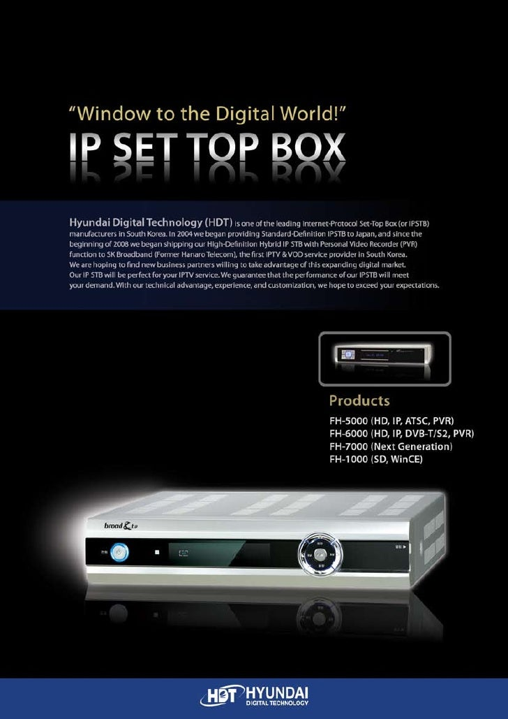 (Hdt) Ipstb Products (May,2009) Mkt