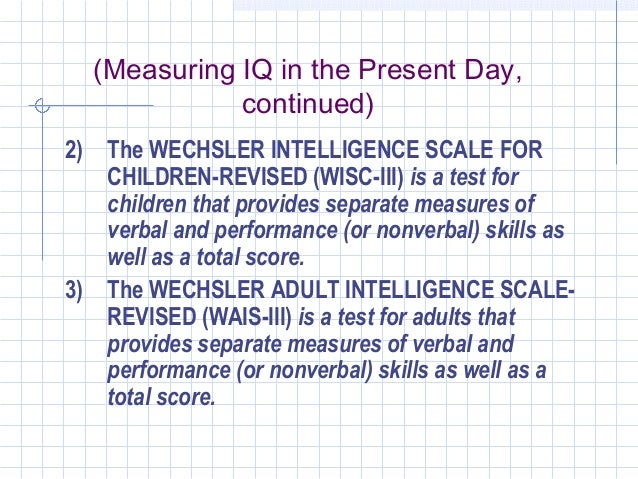 wechsler adult intellegence scale third