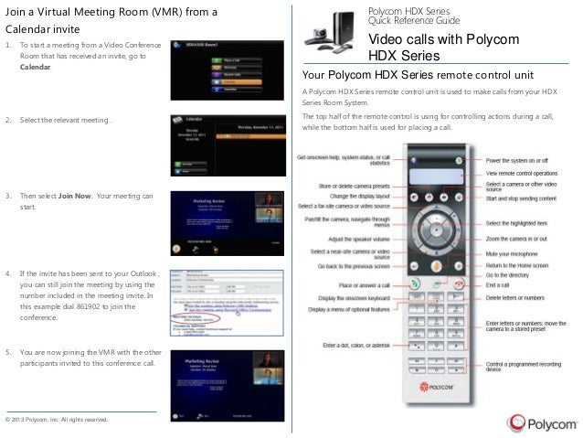 using a polycom hdx to join a vmr rh slideshare net polycom hdx 7000 setup guide polycom hdx 7000 installation manual