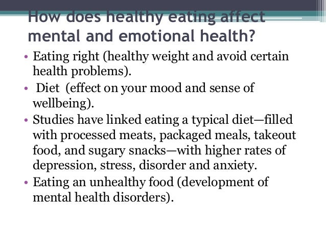 healthy eating for mental health