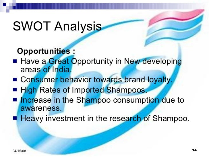swot analysis of head shoulders Therefore, this analysis of the new product is based on the information of the market, product distribution, trends and competitive brands.