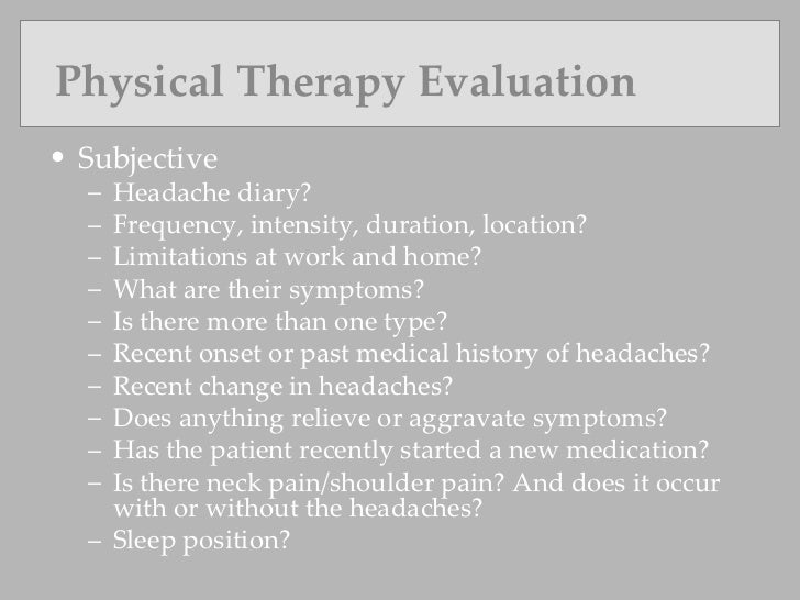 Physical Therapy Role In Headache Management