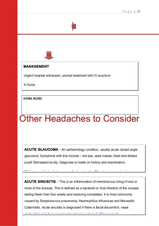 Headaches At A Glance Usman Ahmed