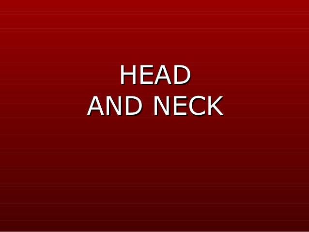 HEADAND NECK