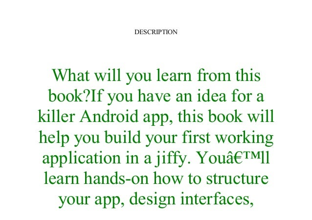 head first android development pdf