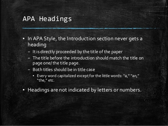 how to make headers in apa