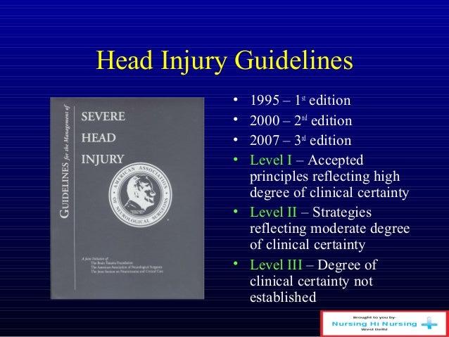 Head injury Slide 3