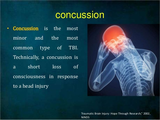 concussions the most common and least serious types of traumatic brain injury Confusion, and short-term memory loss although concussions are not life threatening, any head injury can cause serious complications (eg, bleeding or swelling in the brain) and can  concussion is one of the most common injuries requiring medical care in children and adolescents in the united states the centers for.