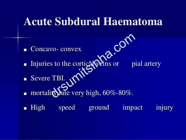 Acute Subdural Haematoma