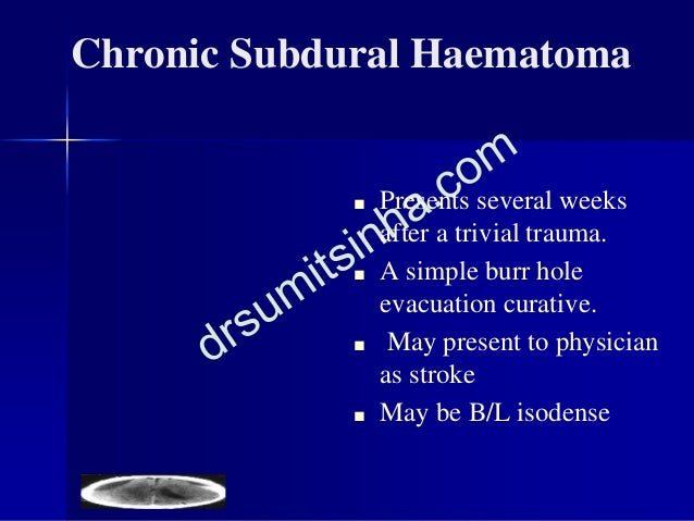 Intracerebral contusion/h'ge ■ If deep, small or multiple observation ICP monitoring surgery for the largest lesion ■ If l...
