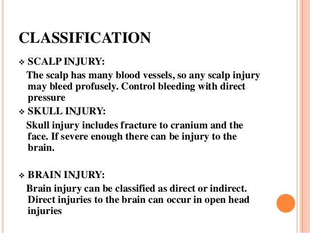 Head injury ppt