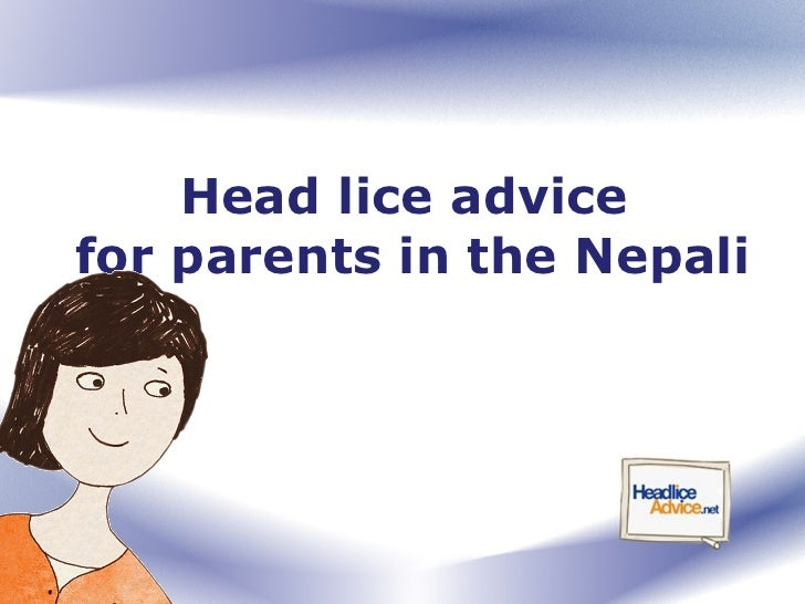 Head lice advice  for parents in the Nepali