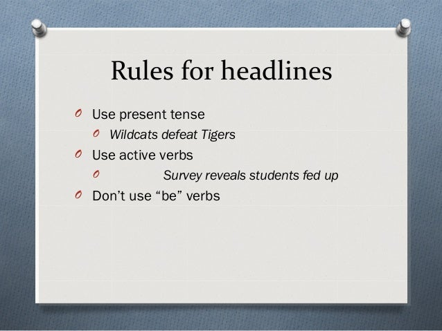 news headline writing rules