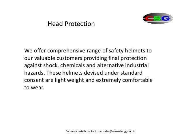 Head protection Slide 2