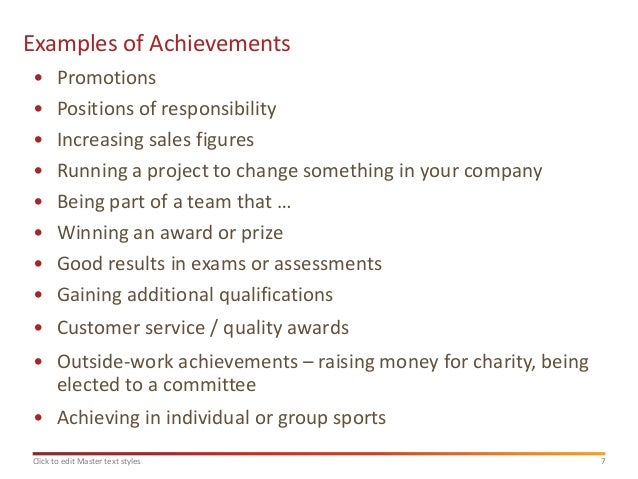 Marvelous Examples Of Achievementsu2022 ... Throughout Examples Of Achievements